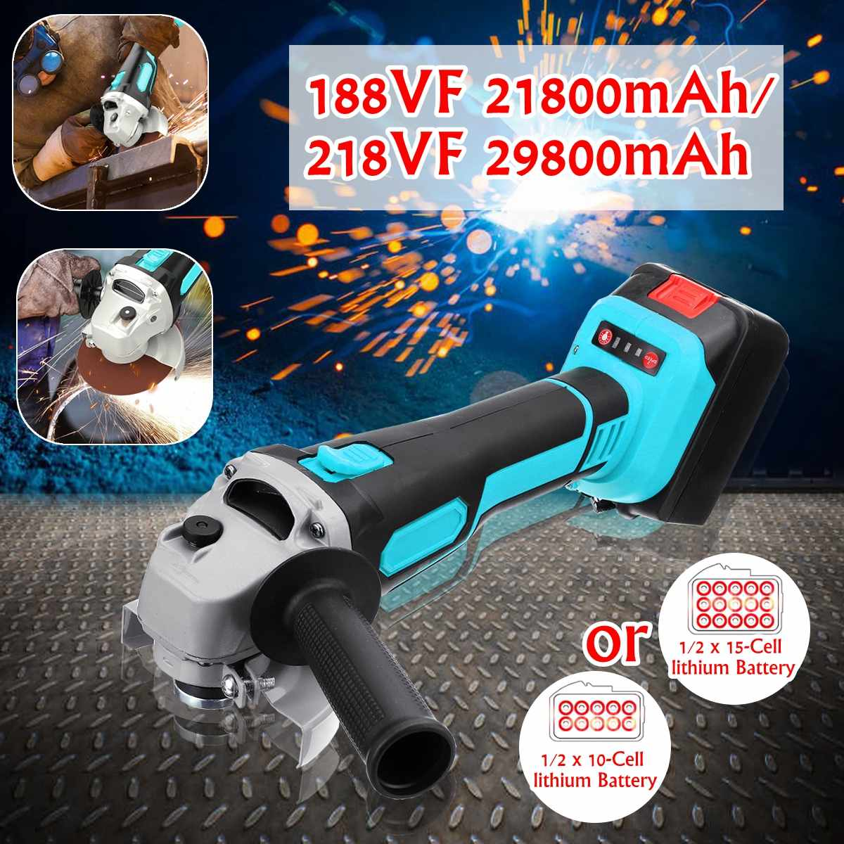 21800mah/29800mah Lithium Battery Electric Angle Grinder Electric Grinding Machine Cordless Polishing Machine Cutting Tool