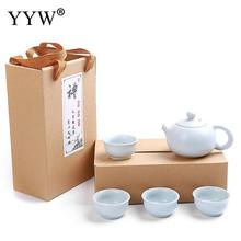 Ceramics Teaset Chinese Travel Kung Fu Tea Set Portable Teapot Cups Kettle Teaware Sets Drinkware Accessories Kitchen Tools