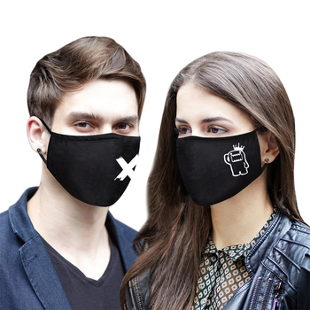 Men Women Adult Cotton Mouth Face Cover Mask Black Kawaii Anime Cartoon Windproof Mascarilla Breathable Mouth Muffle Masque