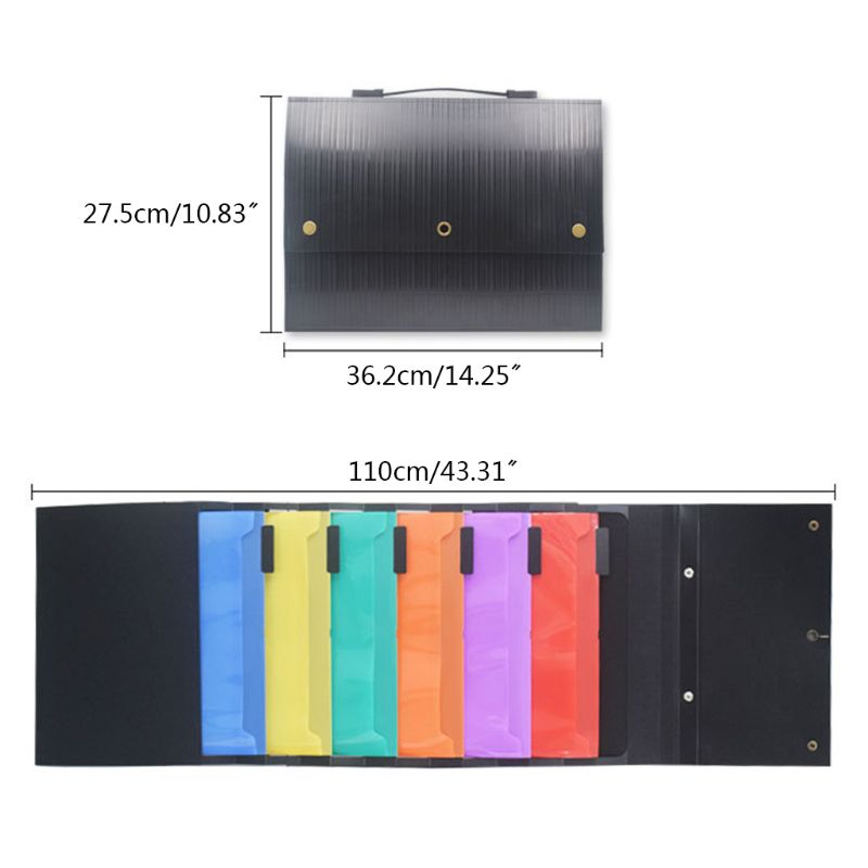 Hanging Wall Mounted File Folder Organizer Handheld Storage Magazines Portable File Folder