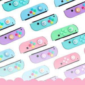 Image 2 - ABXY tuş Sticker Joystick düğmesi Thumb çubuk kavrama kap koruyucu kapak Nintendo anahtarı NS Joy con denetleyici renkli kılıf