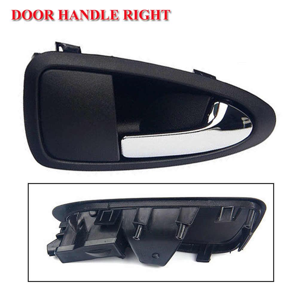 fits Nissan Inside Interior Door Handle Right Black Housing Chrome Lever
