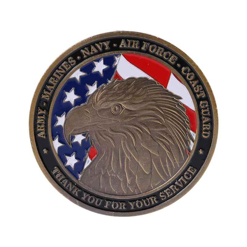 American Five Army Thanksgiving Commemorative Coins Travel Collector Gifts Desktop Car Decorations