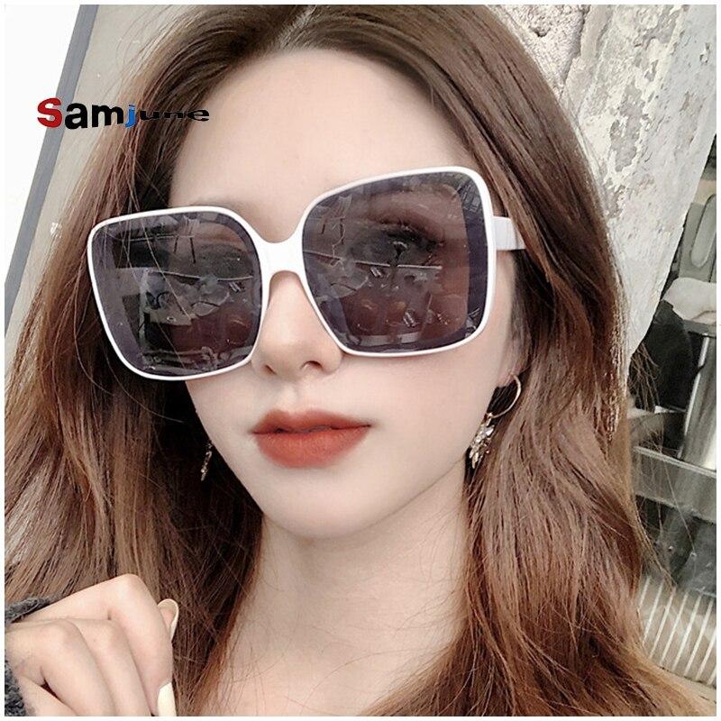 Samjune 2020 Oversized Square Sunglasses Women Luxury Brand Fashion  Colorful Clear Lens Sun Glasses Vintage  Gafas Glasses