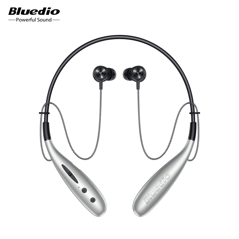 Bluedio Hn  in ear bluetooth earphone wireless headset magnet control steps counting 13mm drive SD card slot mic earpiece earbud