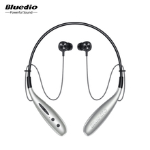 Bluedio Hn+ in ear bluetooth earphone wireless headset magnet control steps counting