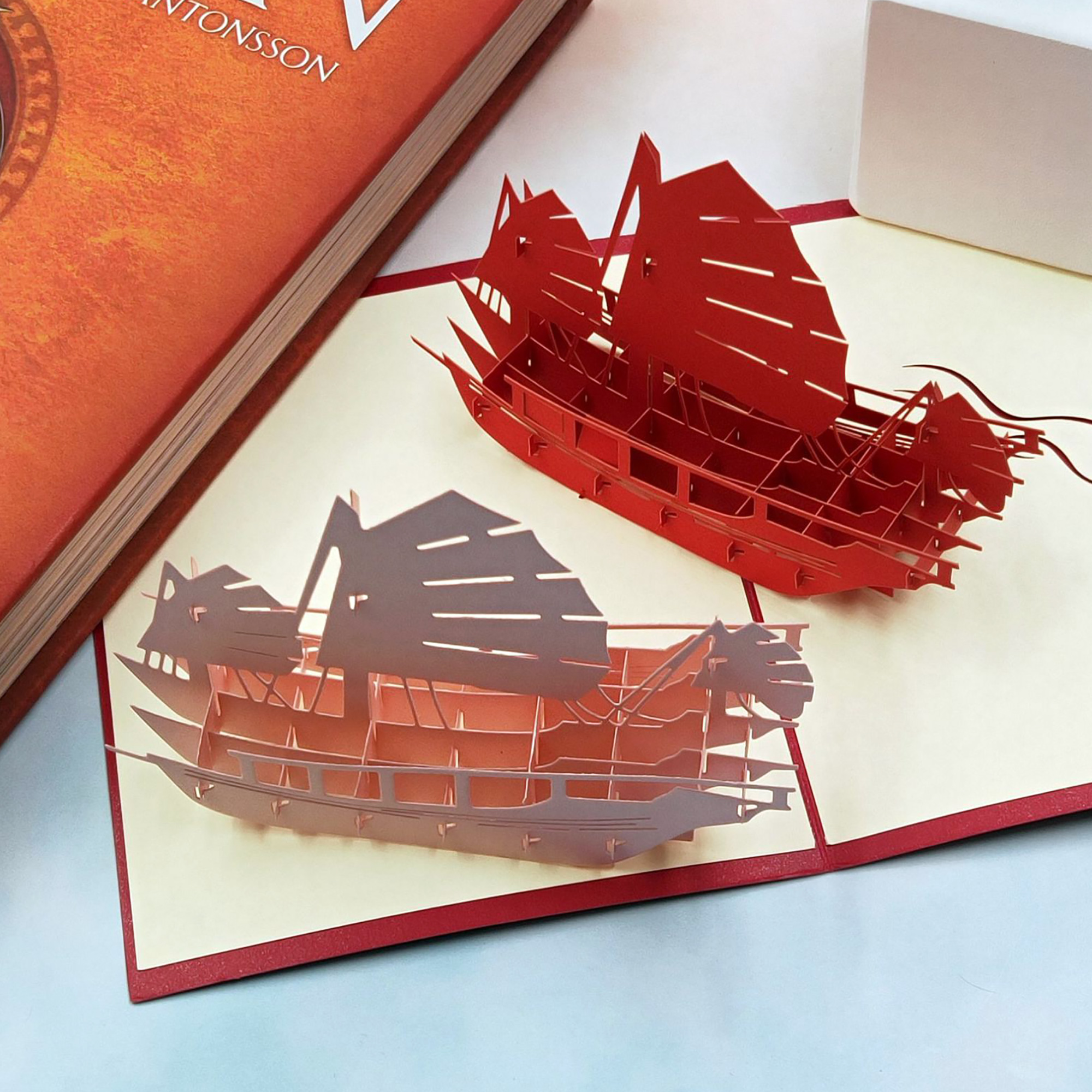 Troqueles de corte de Metal 3D DIY de velero para álbum de recortes, fabricación de tarjetas, troqueles de velero en relieve