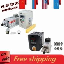 EU CNC Machine Tool Spindle 1500w 1.5kw 24000RPM 400hz ER11 air cooling spindle motor +inverter VFD + 7 pcs ER11 collets 1-7mm
