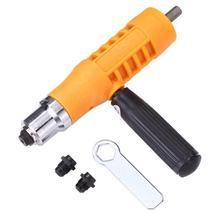 1PC Elektrische Niet Mutter Pistole Nieten Werkzeug Cordless Einsatz Riveter Adapter Kit Kunststoff Cordless Einsatz Mutter Für Power Tool