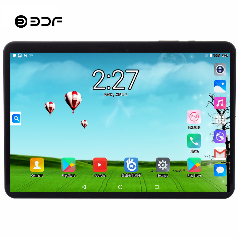 BDF Android 7.0 Tablet Pc 10 Inch 3g 4g LTE Mobile Sim Card Phone Call Android 7.0 Tablet Pc 4GB+64GB Octa Core Tablets Pc