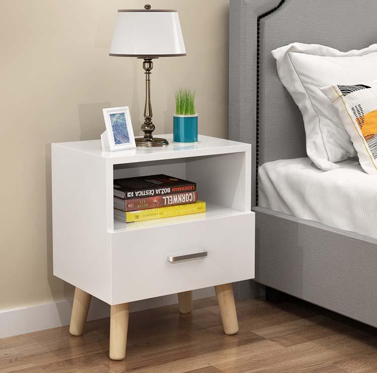 1 Drawer Solid Bedside Cupboard Solid Wood Leg Book Cabinet Bedroom Table постельное бельё