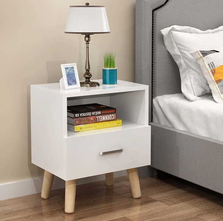 1 Drawer Solid Bedside Cupboard Solid Wood Leg Book Cabinet Bedroom Table постельное бельё