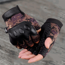 1 Pair Nonskid Half Finger Cycling for Outdoor Sport Men (City Camouflage)