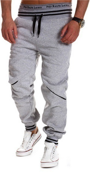 2018 New Style Casual Pants Men Western Style Casual Contrast Color Joint Gymnastic Pants 8755