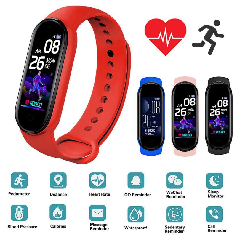 Новейший смарт-браслет M5, фитнес-браслет IP67, водонепроницаемые Смарт-часы, фитнес-трекер с измерением кровяного давления, смарт-браслет, фит...
