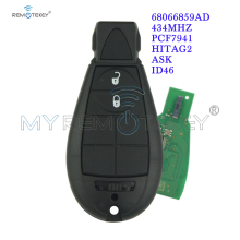 цена на Remtekey #0 Fobik Remote Car Key 434 Mhz 2 Button for Jeep Grand Cherokee 2008 2009 2010 2011 2012 2013 Replacement Car Key