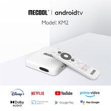 Mecool KM2 4 18k atv ottボックスのandroid 10.0 tvボックスamlogic S905X2 B 2ギガバイトDDR4 8ギガバイトspdifイーサネットwifi hdr 10 widevine L1 tvボックス