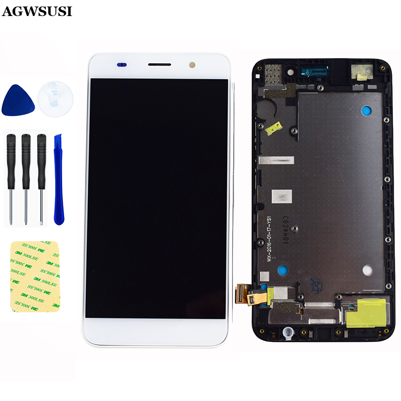 Für Huawei Honor 4A LCD Bildschirm SCL-L01 SCL-L21 SCL-L04 Ehre Y6 LCD Display Panel Touch Screen Digitizer Sensor Montage Rahmen