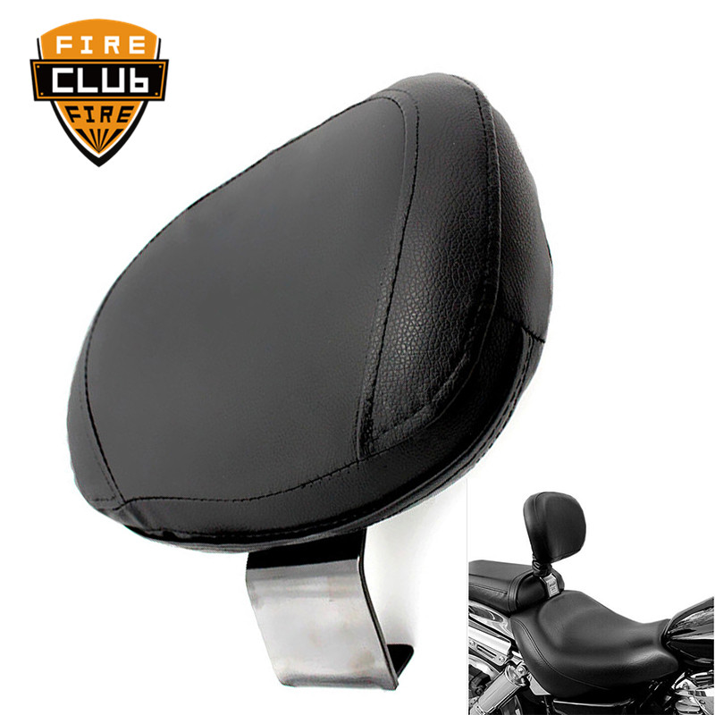 Motorcycle Black Rear Backrest For Suzuki VL800 C50 For Seat Sissy Driver Backrest Pad