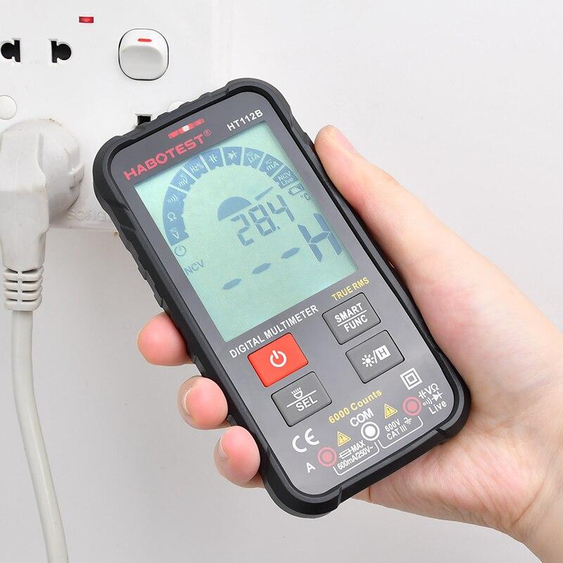 HABOTEST nouvelle génération 600V téléphone Intelligent Intelligent multimètre numérique Ohm capacité Hz AC cc NCV avance Multimetro testeur