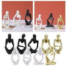 Abstrato pensador estatueta estante desktop collectible estatueta coleção resina escultura moderna figura presente de aniversário