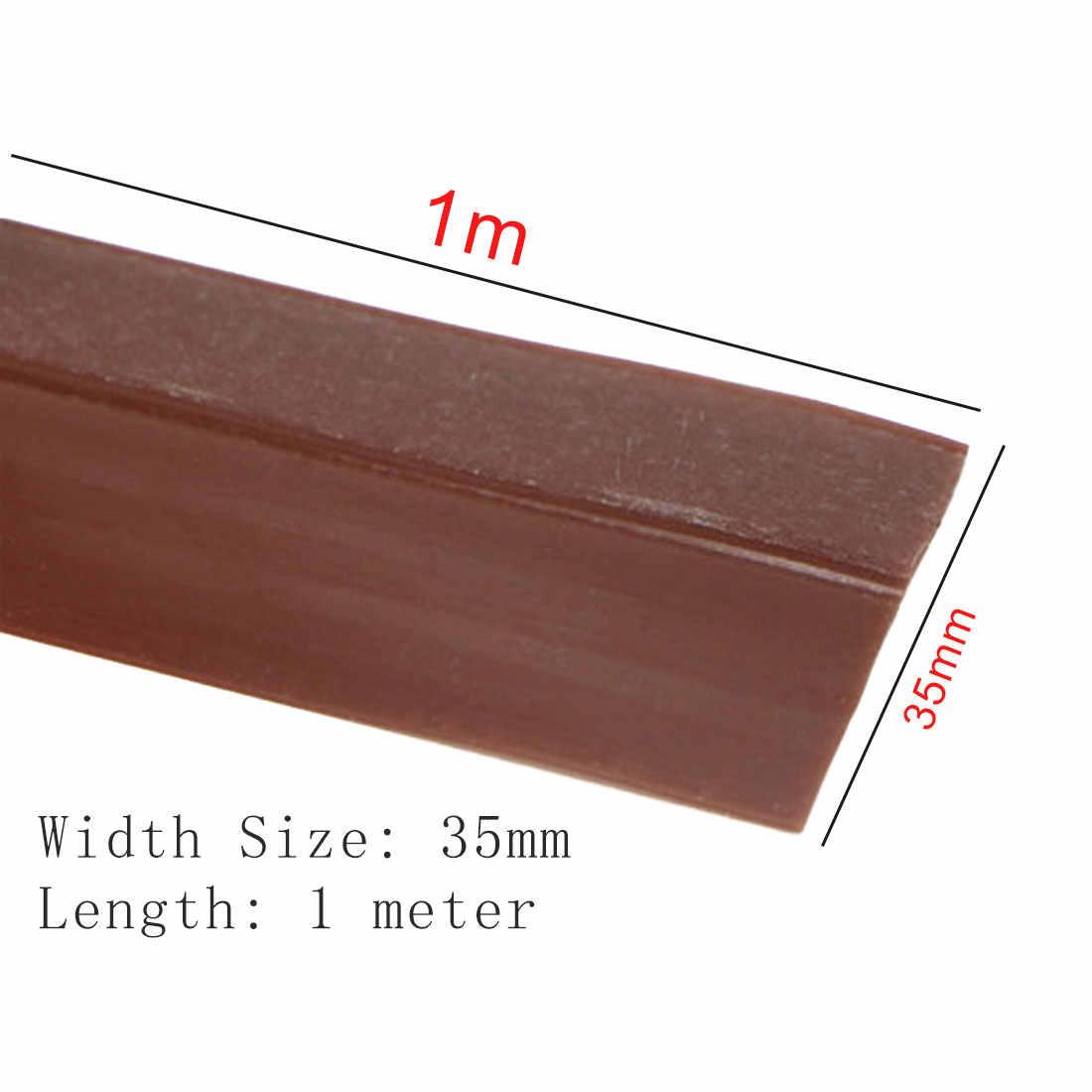 Silikonowe o długości 1 m wielofunkcyjny uszczelniania szkła okno Model stali nierdzewnej drzwi uszczelki silikonowe ponad Bar przezroczysty 35 mm szerokość