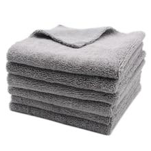 6PCS 320GSM 40x40cm Super Thick Plush Edgeless Microfiber Towels Car Care Cleaning Cloths Microfibre Polishing Detailing Drying
