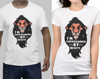 Lion King Scar T-Shirt, Im Surrounded By Idiots Shirt Cotton O-Neck Short Sleeve Unisex T New Size S-3XL