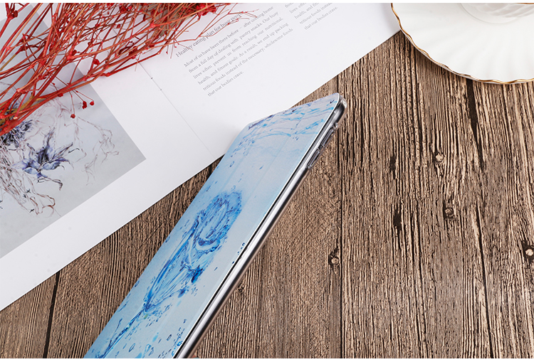 inch QIJUN Cover iPad 2020 Gen 8th For 10.2 leather PU For Stand Case iPad Painted Flip