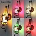 Винтажная стеклянная винная бутылка  настенная лампа  Led Бра  лофт  промышленное зеркало  настенный светильник для домашнего декора  для спа...