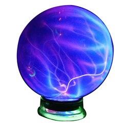 Детская Сфера украшение дома подарки ночной Настольный стеклянный плазменный шар электростатические вечерние волшебный светильник с музы...