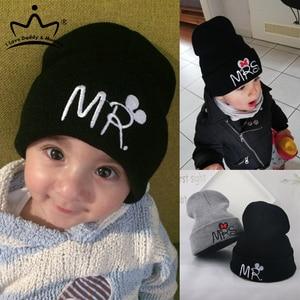 Cute Winter Baby Boy Girl Hat Beanie Cartoon Embroidery Knitted Warm Kids Cap Baby Hats for Children Crochet Beanies