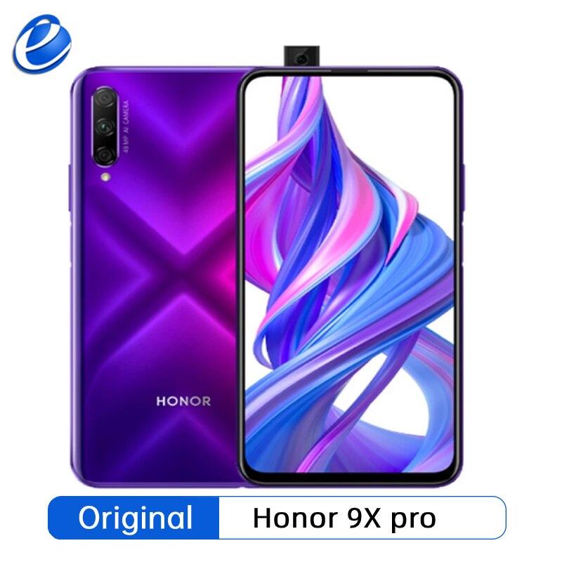Neue original Honor 9X pro 6G 64G Smartphone Honor 9X pro Kirin 810 Octa Core 48MP Vorne Kamera 16MP 4000mAh