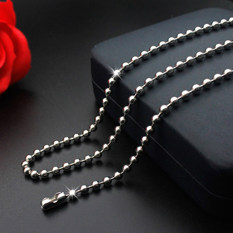 WIWI 1Pcs 1.5/2.0/2.4/3.0 Stainless Steel Beaded Ball Chain Bulk Ball Bead Chains For DIY Necklaces Jewelry Making Accessories