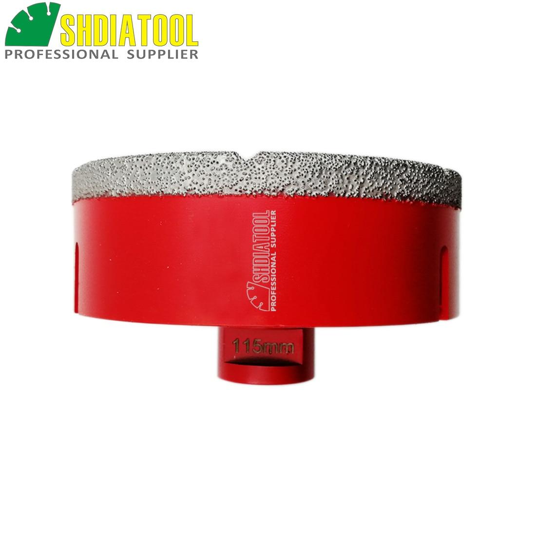 SHDIATOOL 115mm X 10mm Vacuum Brazed Diamond M14 Drilling Bit Drill Core Bit For Granite Marble Ceramic Artificial Stone