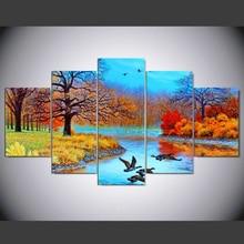 Настенная живопись на холсте Модульная картина с принтом 5 панелей