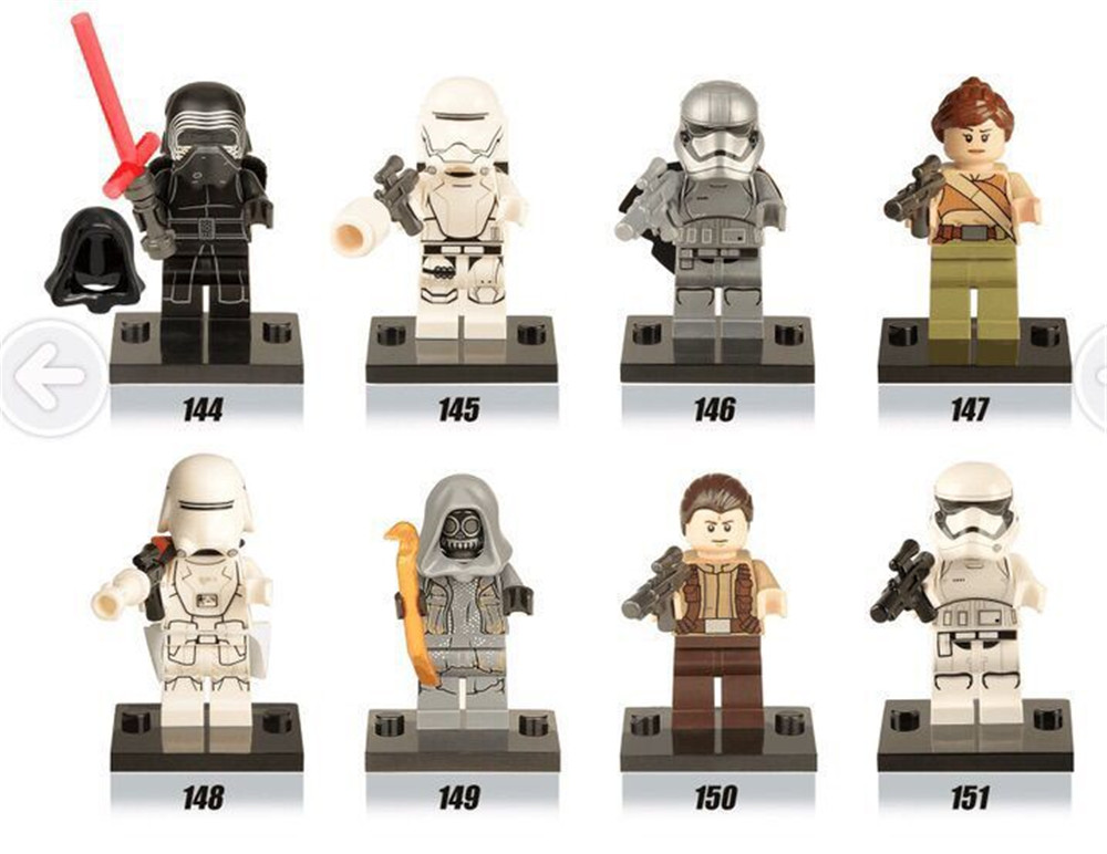 Star Wars Figure Cloak Toys 8 Pcs/set Lepins Darth Vader Clone Storm Trooper Lightsaber Starwars Building BlocksModel Decoration