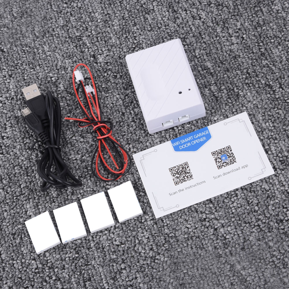Smart Switch USB Cable Tape Set Easily Assemble Electric Garage Door Gate Opener For EWeLink APP Phone Home Controller