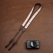Cam7547 הדיגיטלי SLR מצלמה רצועת רך סיני רקום סגנון כותנה ארוג כתף צוואר רצועת גבירותיי