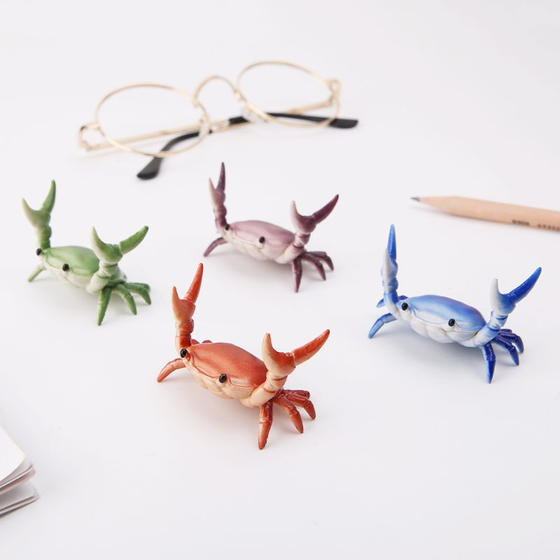 New Japanese Creative Cute Crab Pen Holder Weightlifting Crabs Penholder Bracket Storage Rack Gift Stationery M5TB