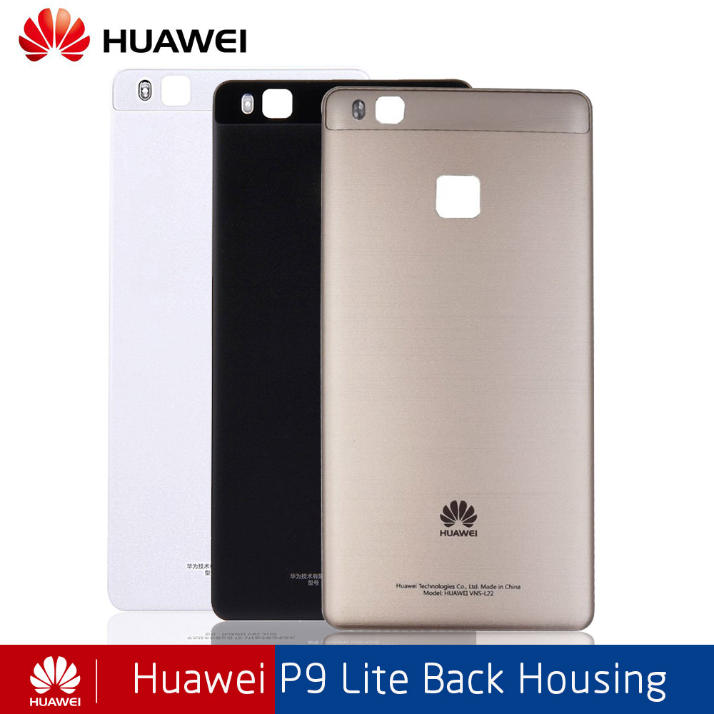 Original Huawei Back Battery Glass Cover For P9 Lite Replcement Rear Housing Chassis Door Case With Sticker