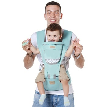 Multi-functional baby carrier summer breathable mesh front and rear dual-use baby hugs hold baby waist stool hold baby artifact teknum baby strap multi functional four seasons common front bracelet baby stool summer single stool hold baby artifact
