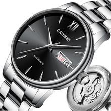 CADISEN мужские часы автоматические механические часы Япония NH36A роль Дата Неделя Топ люксовый бренд наручные часы Relogio Masculino