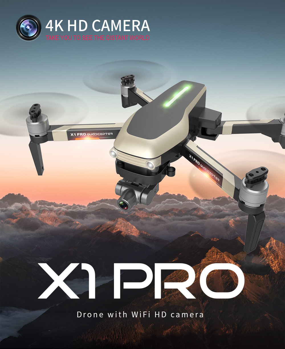 Kalione X1 PRO GPS Drone 4K ZOOM Camera Two-Axis Stable Gimbal 5G WIFI SD Card 25 min RC Quadcopter Professional Dron toys