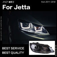 AKD Car Styling Head Lamp for VW Jetta Headlights 2011 2018 Jetta Mk6 LED Headlight Angel Eye Drl Hid Bi Xenon Auto Accessories