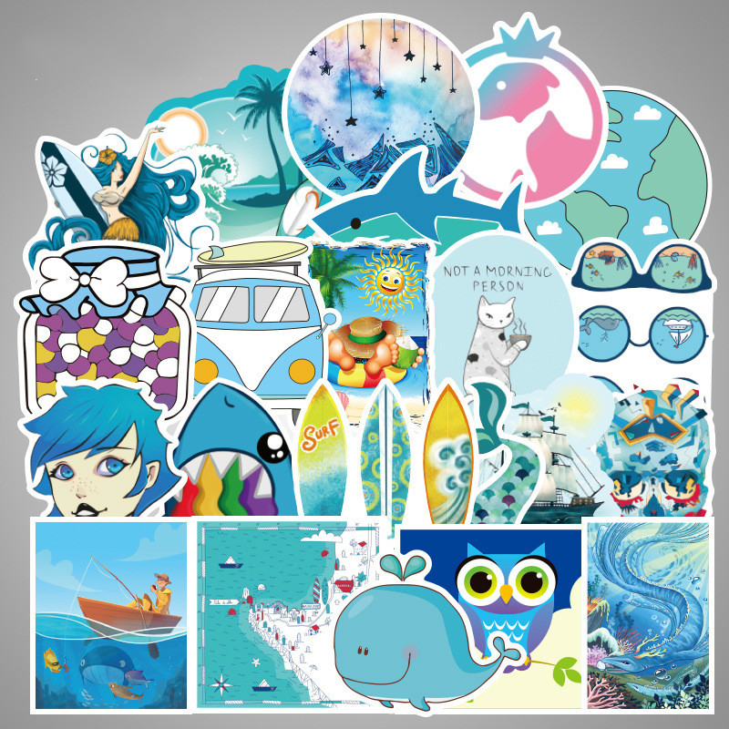 105 PCS Cartoon Simple VSCO Girls Kawaii Stickers For Chidren Toy Waterproof Sticker To DIY Laptop Bicycle Helmet Car Decals