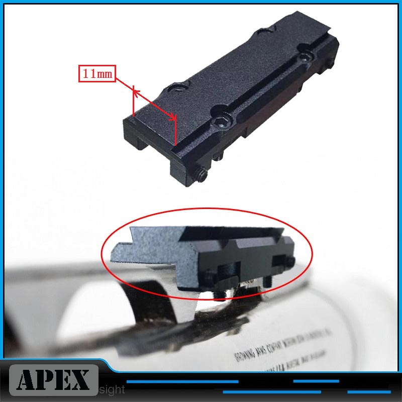 IZH-27 /TOZ-34 Mini/ MP-153 / MP-155 / MP-233 / TOZ-120 / MTs21-12 / TOZ-84 Ventilated Rib Rail 11mm Dovetai Red Dot Mount Black