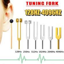 6 шт 128/256/512/1024/4096 Гц медицинский камертон Исцеление чакры звуковой терапии тюнер+ молоток для шариков+ молоток+ сумка для музыкального инструмента