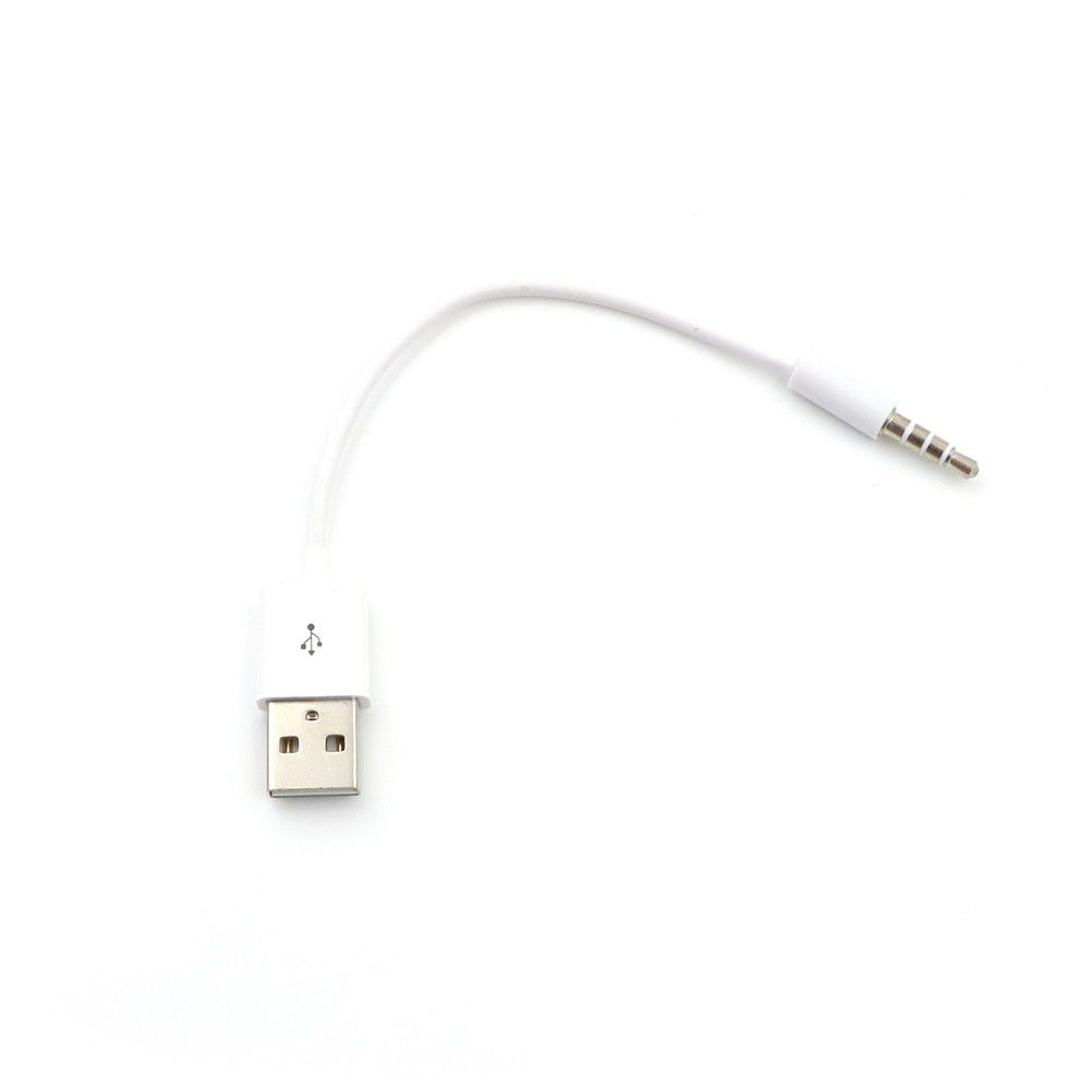 3.5mm Jack AUX To USB 2.0 Charger Data Sync Audio Adapter Cable For Apple IPod Shuffle 3rd 4th 5th 6th Gen MP3 MP4 Player Cord(China)