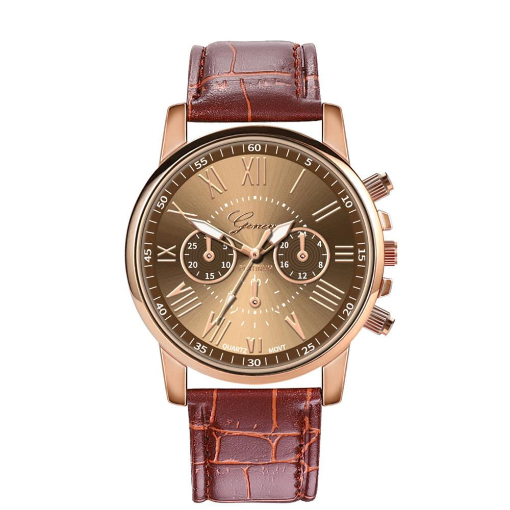 Women Watches Luxury Famous Brand New Fashion Women Leather Band Stainless Steel Quartz Analog Wrist Watch Clock Reloj Femenino